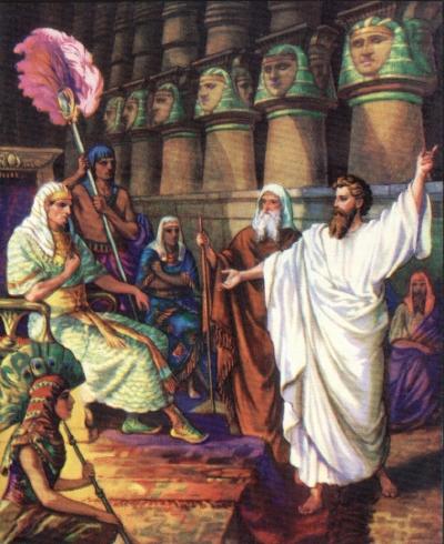 Моисей-и-Аарон-перед-фараоном