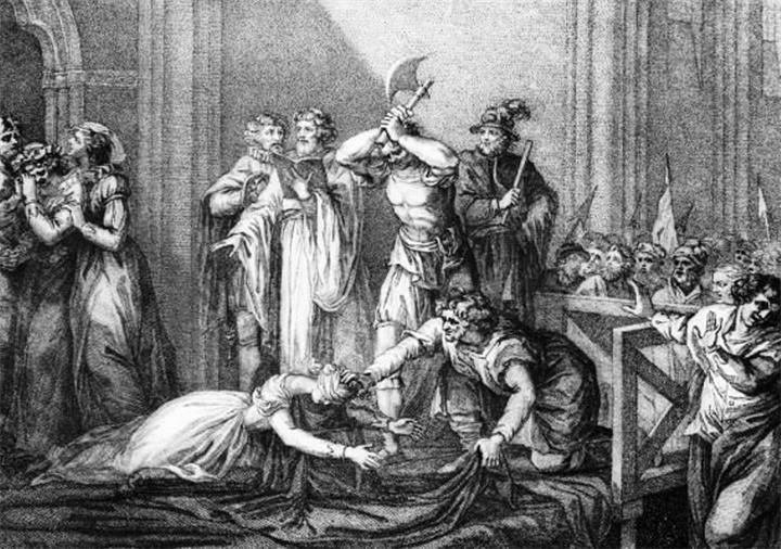 Казнь Марии Шотландской - гравюра