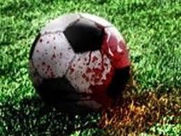 кровь на футбольном поле