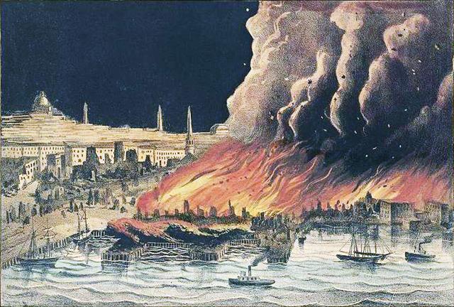 Пожар в Бостоне