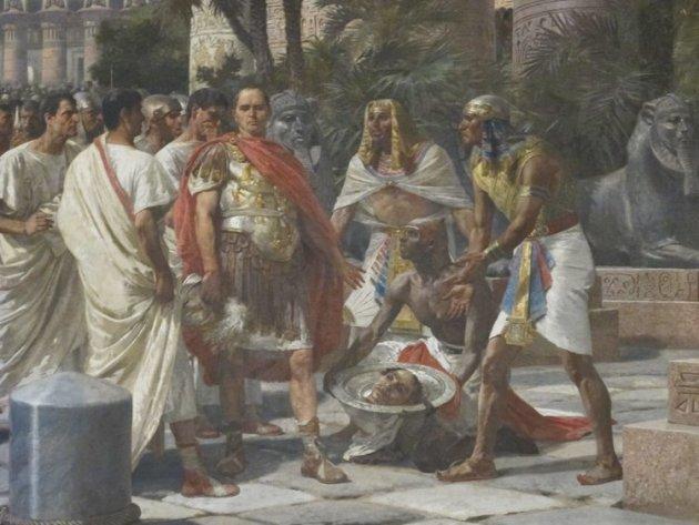 Цезарь и голова Помпея