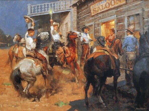 обычныйвечер в коровьем городке