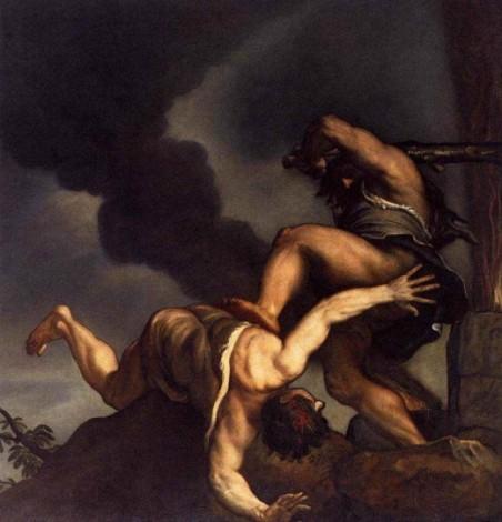 Тициан Вечеллио. «Каин и Авель»