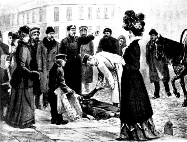 Уличный случай - околоточный надзиратель и городовой