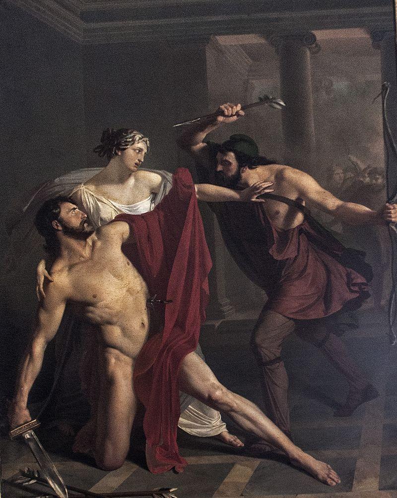 Мишель де Наполи. «Смерть Алкивиада»
