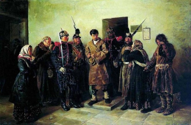 Задержание революционера жандармами
