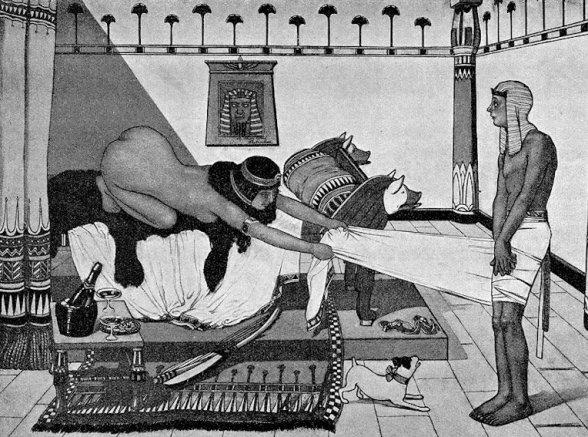Жена Потифара пристает к Иосифу