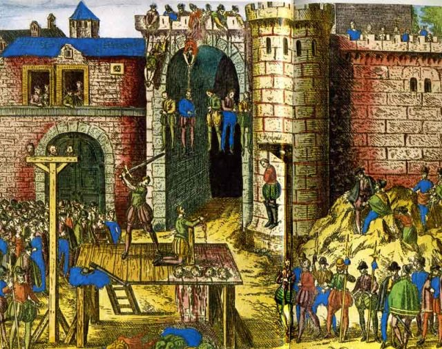 Казнь протестантов в Амбуазе в 1560 году