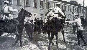 Разгон казаками рабочих