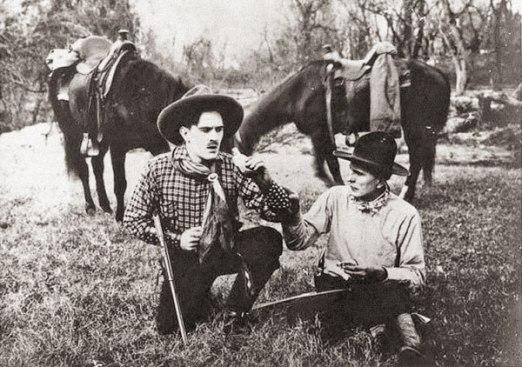 Кид Уилсон и Генри Старр на съемках фильма
