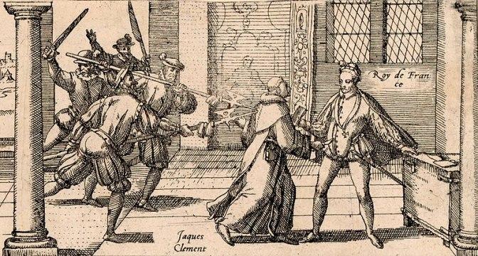Жак Клеман убивает Генриха 3