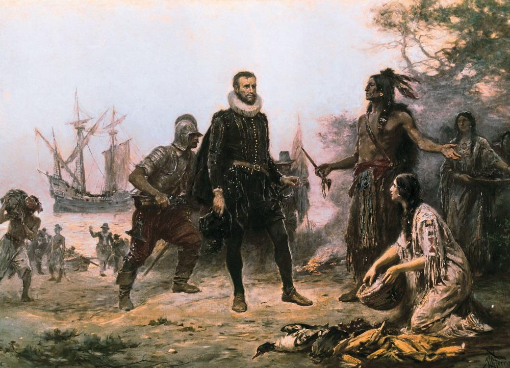 Гудзон и индейцы