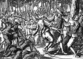 Франсуа Л'Олонэ - стычка с индейцами