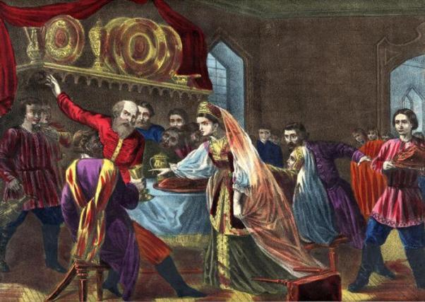 Дочь Малюты Скуратова Екатерина отравляет ядом Михаила Скопина-Шуйского