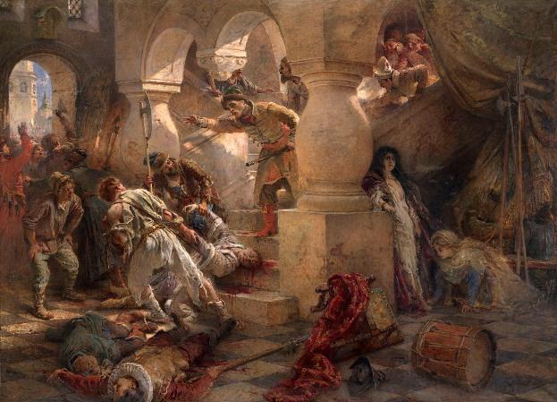 Картина Константина Маковского. «Смерть Димитрия Самозванца