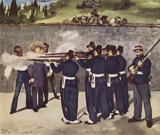 картина Эдуард Мане. «Расстрел императора Мексики Максимилиана».