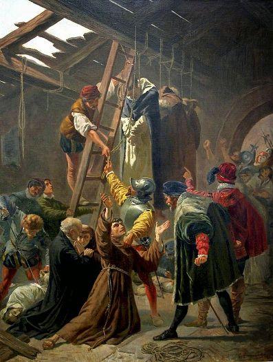 Картина Чезаре Фракассини. «Мученики Горкума».
