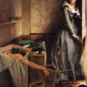 Картина Поля Бодри. «Шарлотта Корде после убийства Марата».