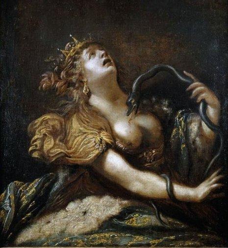 Картина Риччи Педрини. «Смерть Клеопатры»
