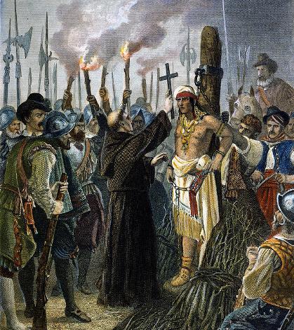 Атаульпа - казнь