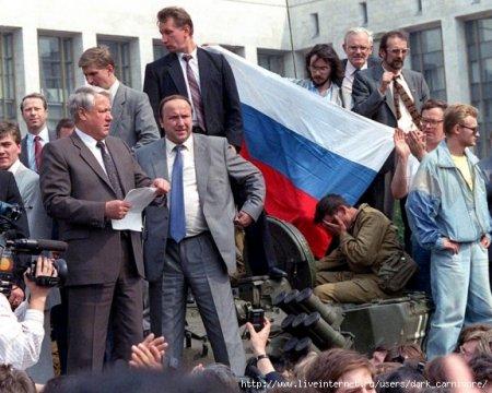 Ельцин на танке