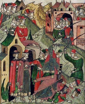 Убийство Владимирского князя Александра Михайловича и сына его Федора в Орде