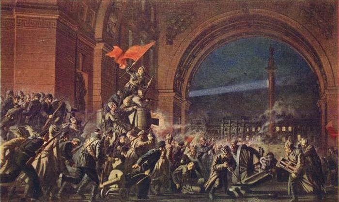 Павел Соколов-Скаля. Штурм Зимнего дворца. 1947.