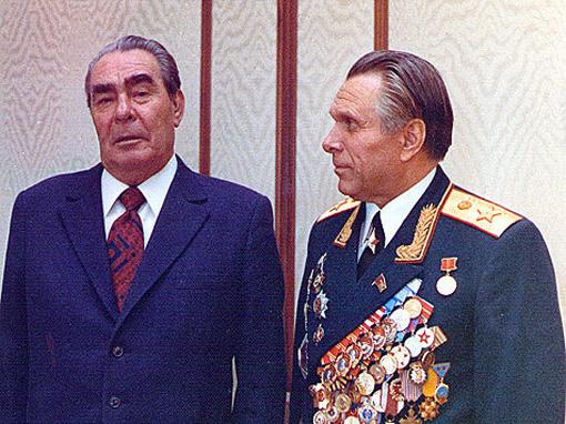 Брежнев и Щелоков