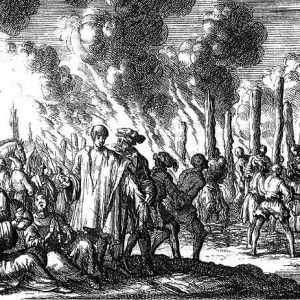 Гравюры Люйкена про казни сожжением-2