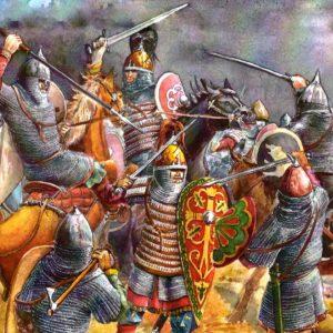 Сражение на Нежатиной ниве - 3 октября 1078 года - фрагмент рисунка Терещенко Александра (изображение взято из открытых источников)